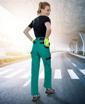 Obrázek z COOL TREND Dámské pracovní kalhoty do pasu zelená / černá
