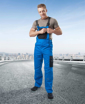 Obrázek z 4TECH Pracovní kalhoty s laclem modro-černé