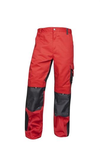 Obrázek z PRE100 Pracovní kalhoty do pasu červené