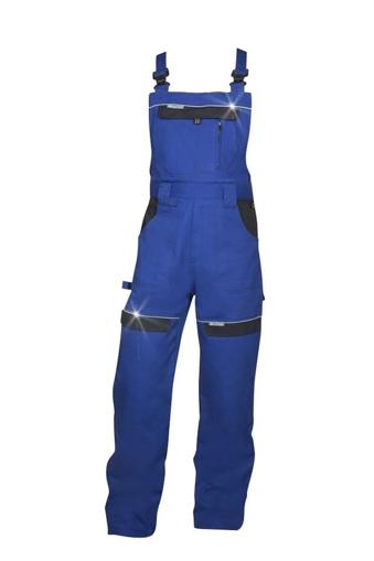 Obrázek z COOL TREND Pracovní kalhoty s laclem modrá / černá