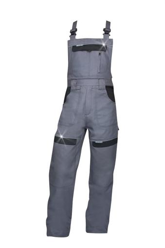 Obrázek z COOL TREND Pracovní kalhoty s laclem šedá / černá