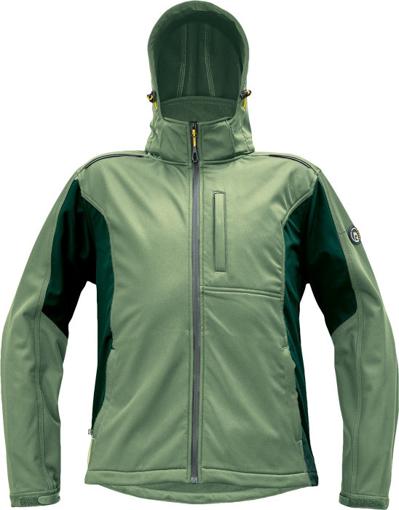 Obrázek z Červa DAYBORO Pánská softshellová bunda mechově zelená / černá