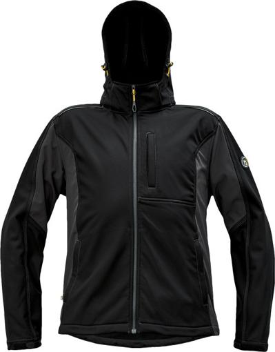 Obrázek z Červa DAYBORO Pánská softshellová bunda černá / antracit