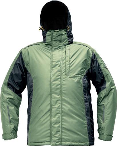 Obrázek z Červa DAYBORO Pracovní bunda zimní mechově zelená / černá