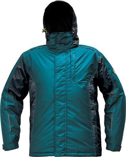 Obrázek z Červa DAYBORO Pracovní bunda zimní petrolejová / černá