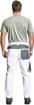 Obrázek z Červa CREMORNE Pracovní kalhoty do pasu bílá / šedá