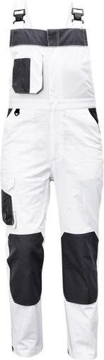 Obrázek z Červa CREMORNE Pracovní kalhoty s laclem bílá / šedá