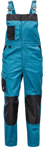 Obrázek z Červa CREMORNE Pracovní kalhoty s laclem petrolejová / černá