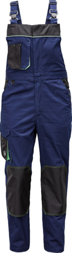 Obrázek z Červa CREMORNE Pracovní kalhoty s laclem tm. modrá / černá