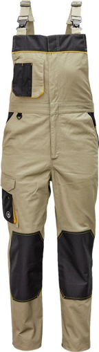 Obrázek z Červa CREMORNE Pracovní kalhoty s laclem olivová / černá