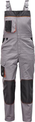 Obrázek z Červa CREMORNE Pracovní kalhoty s laclem šedá / černá