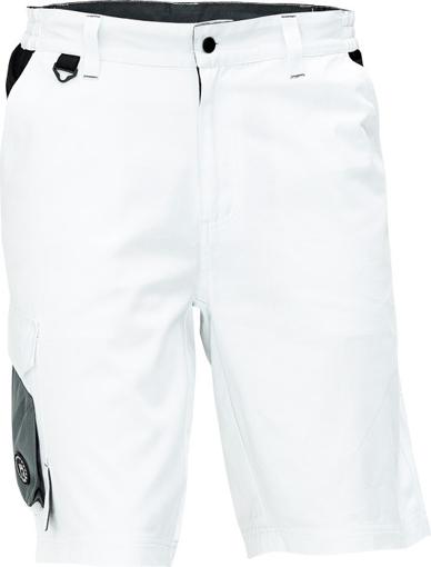 Obrázek z Cerva CREMORNE Pracovní šortky bílá / šedá