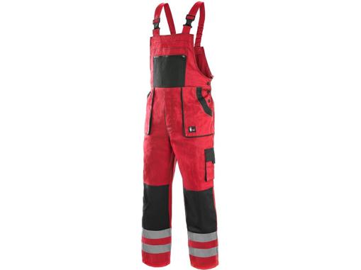 Obrázek z CXS LUXY BRIGHT Pracovní kalhoty s laclem červeno / černé