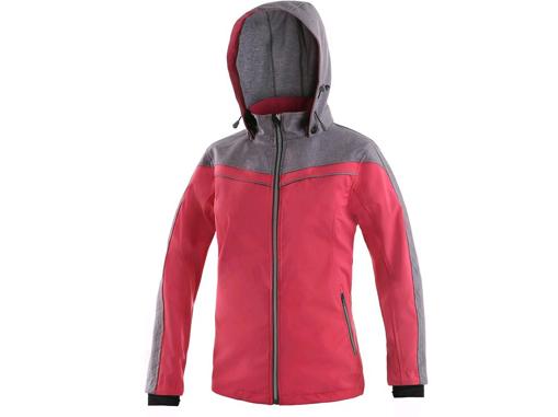 Obrázek z CXS MONROE Dámská bunda růžovo / šedá