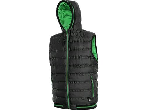 Obrázek z CXS OVERLAND Pánská zimní vesta černo / zelená