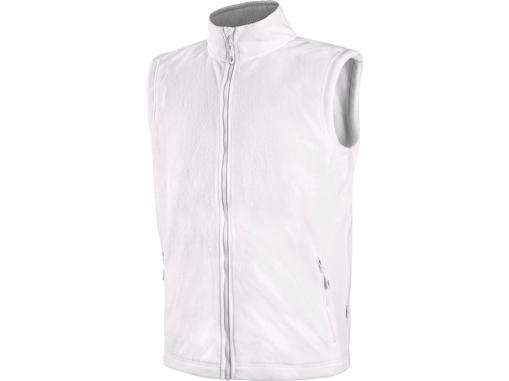 Obrázek z CXS MILFORD Pánská fleecová vesta bílá