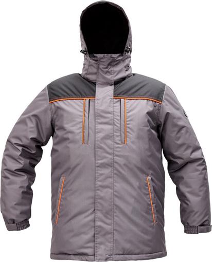 Obrázek z Cerva CREMORNE Pracovní bunda zimní šedá / černá