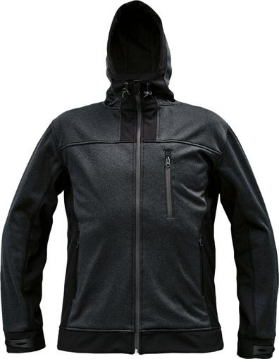 Obrázek z Cerva HUYER Pánská softshellová bunda černá
