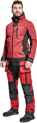 Obrázek z Cerva HUYER Pánská softshellová bunda červená