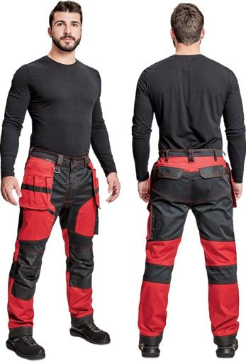 Obrázek z Cerva KEILOR Pracovní kalhoty do pasu červené