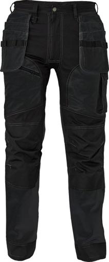 Obrázek z Cerva KEILOR Pracovní kalhoty do pasu černé