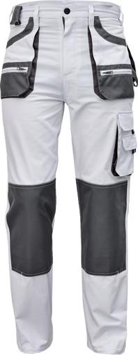 Obrázek z Fridrich & Fridrich CARL BE-01-003 Pracovní kalhoty do pasu bílé