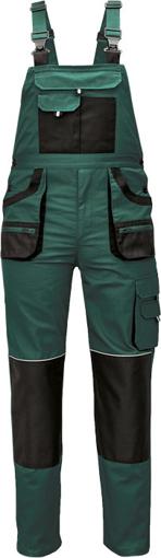 Obrázek z Fridrich & Fridrich CARL BE-01-004 Pracovní kalhoty s laclem zelené