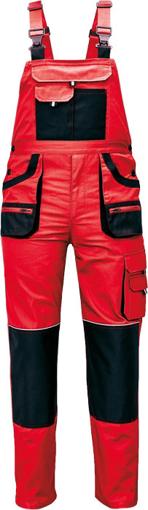Obrázek z Fridrich & Fridrich CARL BE-01-004 Pracovní kalhoty s laclem červené