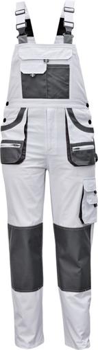 Obrázek z Fridrich & Fridrich CARL BE-01-004 Pracovní kalhoty s laclem bílé