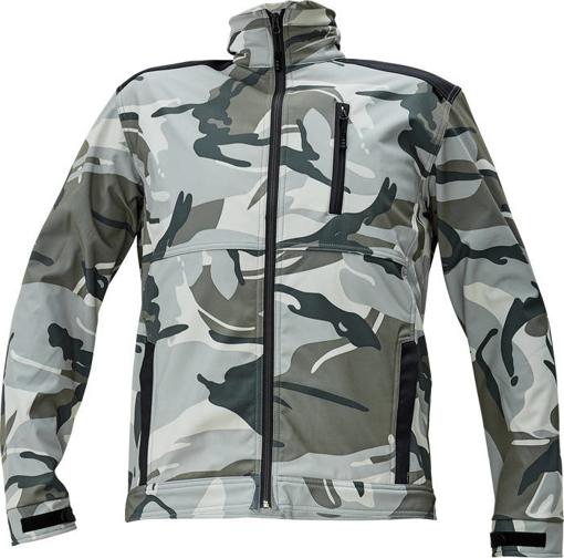 Obrázek z CRV CRAMBE Pánská softshellová bunda šedá kamufláž
