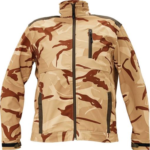 Obrázek z CRV CRAMBE Pánská softshellová bunda béžová kamufláž