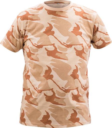 Obrázek z CRV CRAMBE Pánské tričko béžová kamufláž