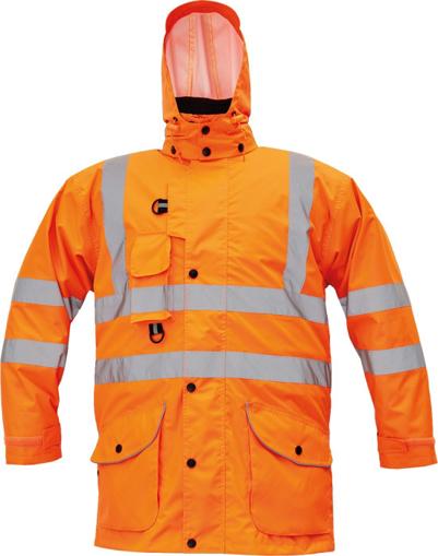 Obrázek z Cerva FORMBY HV Reflexní zimní bunda oranžová