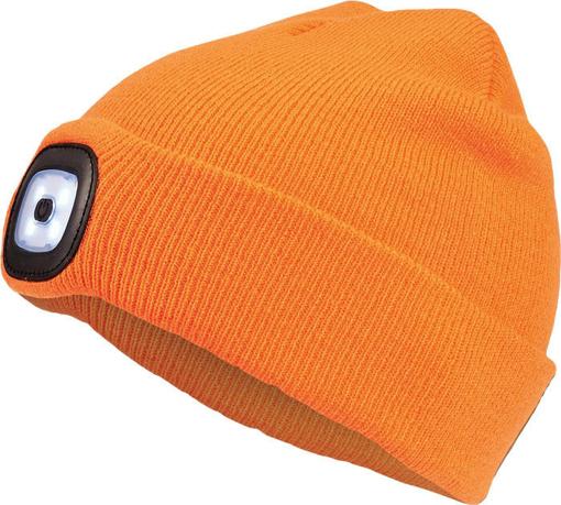 Obrázek z Cerva DEEL LED čepice s lampou oranžová