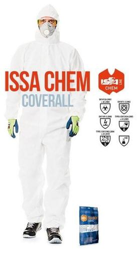 Obrázek z ISSA CHEM OVERAL 08290 Ochranná kombinéza s kapucí