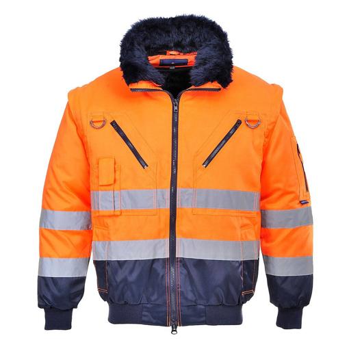 Obrázek z Portwest PJ50 PILOT HI-VIS Reflexní bunda oranžová 3v1 - zimní