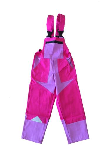 Obrázek z M+P DAVID Dětské pracovní kalhoty s laclem růžové