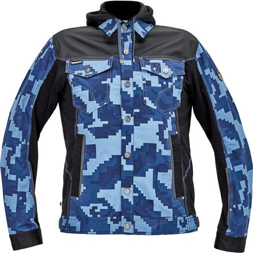 Obrázek z Cerva NEURUM CAMOUFLAGE Pracovní bunda s kapucí navy