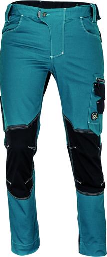 Obrázek z Cerva NEURUM CLASSIC Pracovní kalhoty do pasu petrolejová