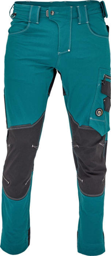 Obrázek z Cerva NEURUM PERFORMANCE Pracovní kalhoty do pasu petrolejová