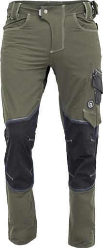 Obrázek z Cerva NEURUM PERFORMANCE Pracovní kalhoty do pasu olivová