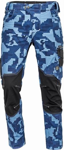 Obrázek z Cerva NEURUM CAMOUFLAGE Pracovní kalhoty do pasu navy