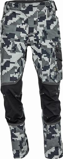 Obrázek z Cerva NEURUM CAMOUFLAGE Pracovní kalhoty do pasu antracit