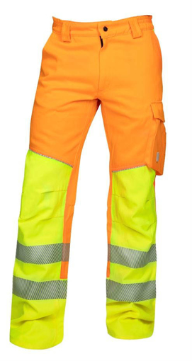 Obrázek z ARDON SIGNAL Pracovní kalhoty do pasu oranžové prodloužené