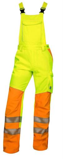 Obrázek z ARDON SIGNAL Pracovní kalhoty s laclem žluté zkrácené