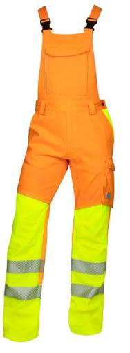 Obrázek z ARDON SIGNAL Pracovní kalhoty s laclem oranžové prodloužené