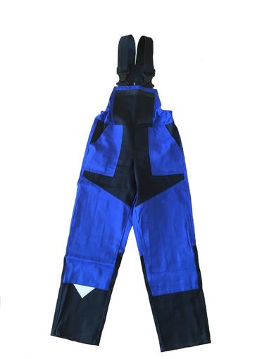 Obrázek z M+P DAVID Dětské pracovní kalhoty s laclem modro / černé