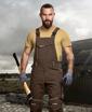 Obrázek z ARDON URBAN Pracovní kalhoty s laclem hnědé zkrácené