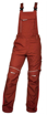 Obrázek z ARDON URBAN Pracovní kalhoty s laclem červené zkrácené