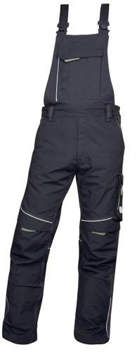 Obrázek z ARDON URBAN Pracovní kalhoty s laclem černo-šedé prodloužené